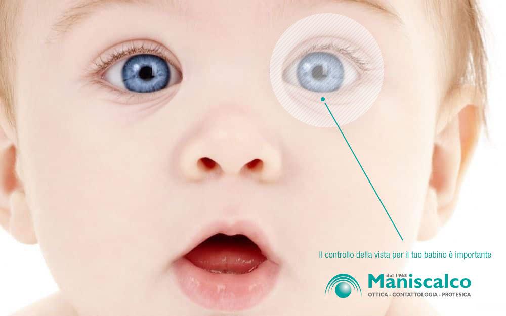 controllo occhi bambino